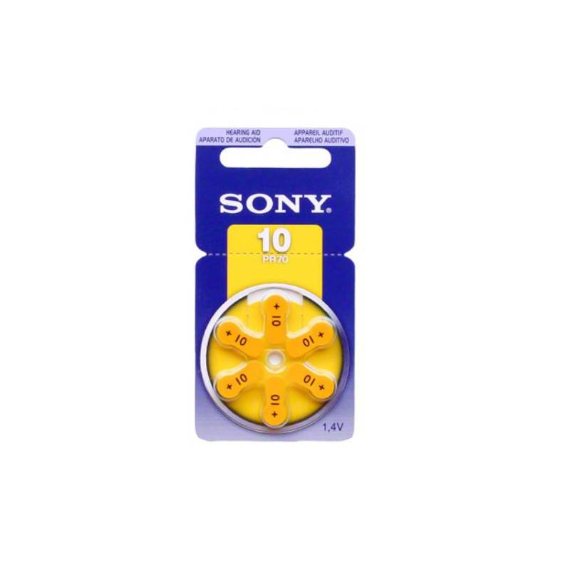 Sony hearingaid battery pr70, za10