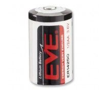 EVE ER14250 1/2AA 3,6VOLT with soldertags (Utag)