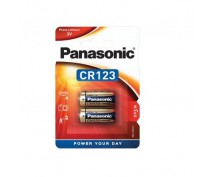 2 STRUKS PANASONIC CR123A LITHIUM POWER BATTERIJ