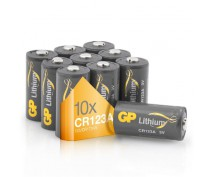 POWERDEAL 10X GP CR123A LITHIUM BATTERIJ 3 VOLT