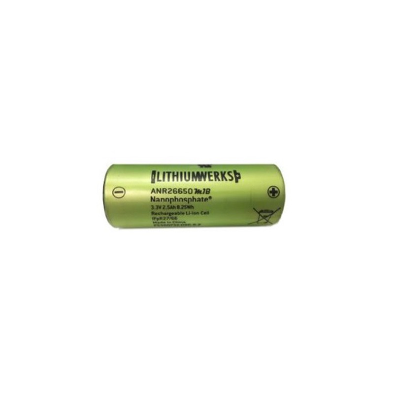 Lithium Werks (A123) ANR26650M1B UNPROTECTED 2500Mah