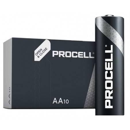 10 PCS PROCELL INDUSTRIAL LR06, MN1500, AA ALKALINE