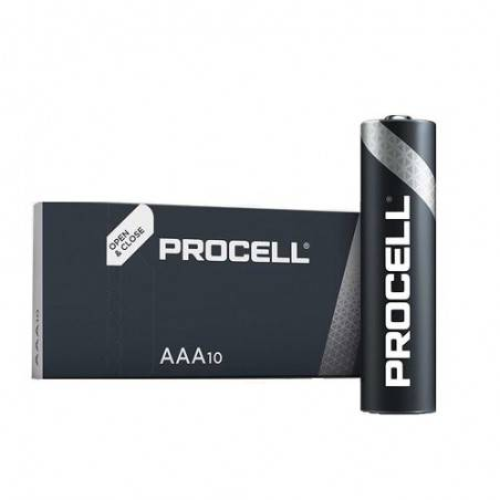 10 PCS DURACELL PROCELL LR03, MN2400, AAA ALKALINE