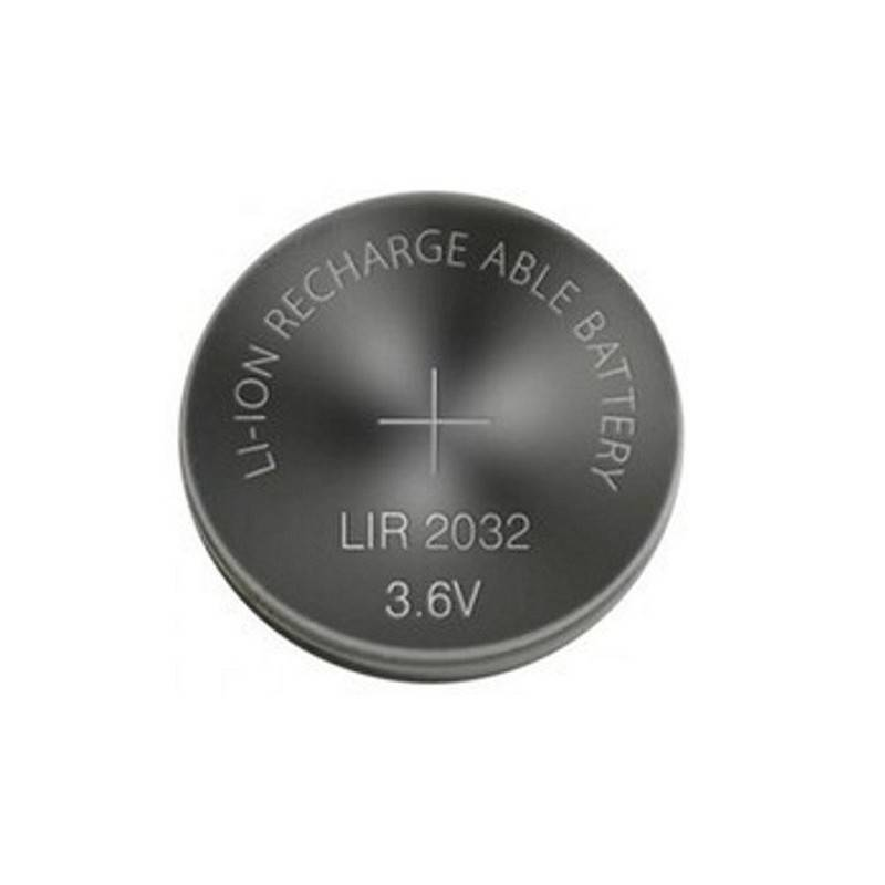 LIR2032 RECHARGEABLE LI-ION BUTTONCELL 3.6V