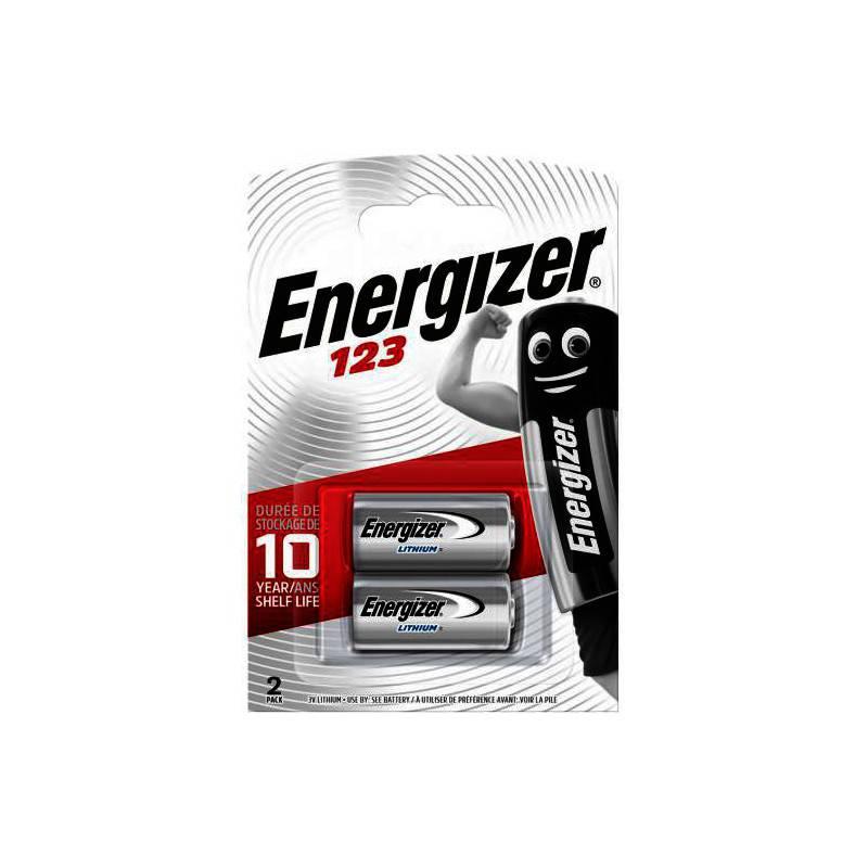2 PIECES ENERGIZER CR123A LITHIUM POWER BATTERIJ