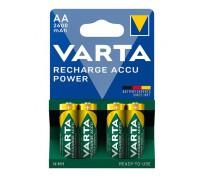 4 PIECES VARTA RECHARGE ACCU POWER AA 2600