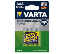 4 PIECES VARTA RECHARGEABLE 1000AAA