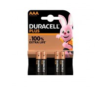 4 PCS DURACELL PLUS POWER MN2400, LR03, AAA