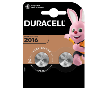 2 PCS BUTTONCELL LITHIUM DURACELL CR2016