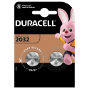 2 PCS BUTTONCELL LITHIUM DURACELL CR2032