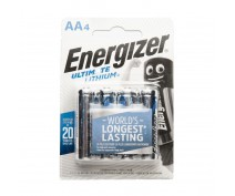 4 PCS ENERGIZER ULTIMATE LITHIUM AA BATTERIES IN BLISTER