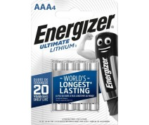 4 PIECES ENERGIZER L92 ULTIMATE LITHIUM AAA