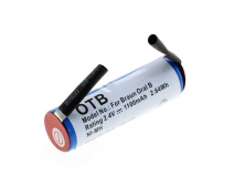 OTB 2.4 VOLT BATTERY FOR BRAUN, ORAL B AND ROWENTA