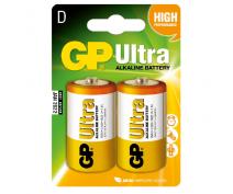 2 PCS GP13AU, LR20, D ULTRA ALKALINE