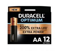 12 STUKS DURACELL OPTIMUM ALKALINE AA, LR06