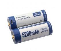2x KEEPPOWER 26650 PROTECTED 5200mAh-USB