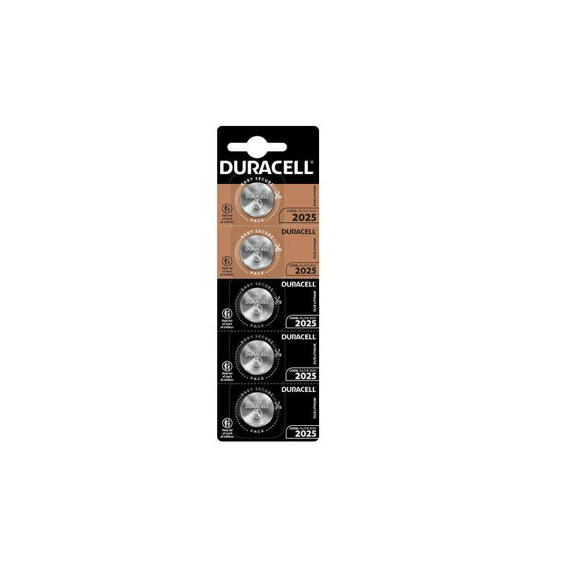 5 PCS BUTTONCELL LITHIUM DURACELL CR2025