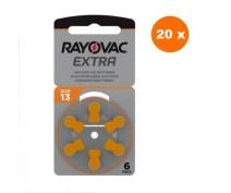 POWERDEAL 72 PIECES RAYOVAC EXTRA 13, PR48 HEARINGAID BATTERIES