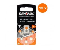 POWERDEAL 72 PIECES RAYOVAC ACOUSTIC SPECIAL 13, PR48 HEARINGAID BATTERIES