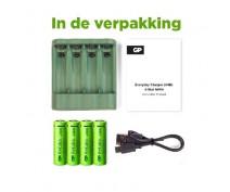 GP USB BATTERYCHARGER B421 INCL. 4 x AA 2100 RECYKO+