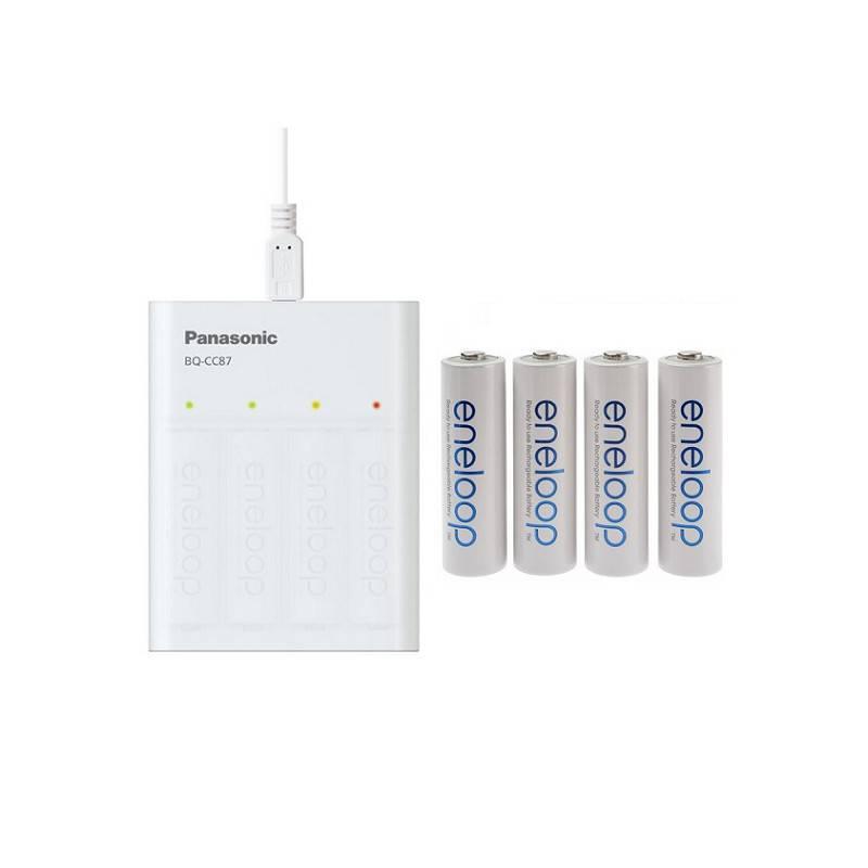 ENELOOP BQ-CC87 USB CHARGER/POWERBANK + 4xAA 1900mAh
