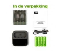 GP M451 USB CHARGER INCL. 4 x AA 2600 RECYKO+ DOCKINGSTATION