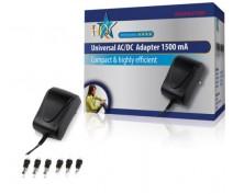 HQ Universele AC/DC Adapter 1500Mah