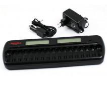 JAPCELL BC-1600 lader voor 16 x AA en/of AAA