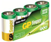 GP 14AS4 LR14 C SUPER ALKALINE