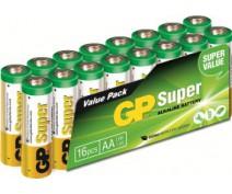 16 stuks GP15A LR06 AA Super Alkaline