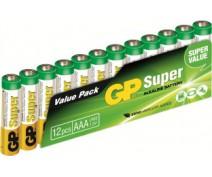 12 stuks GP24A LR03 AAA Super Alkaline