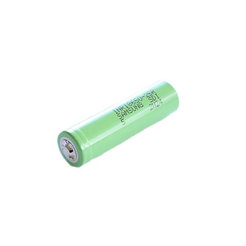 SAMSUNG INR18650-25R 2500Mah unprotected with button top