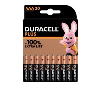 20 PIECES DURACELL PLUS POWER MN2400, LR03, AAA